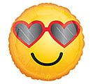 "17""LUV HEART GLASSES EMOTICON"