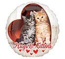 "9""INFLATED LUV AVANTI HUGS  KITTENS"