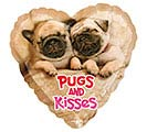 "9""FLAT LUV AVANTI PUGS  KISSES"