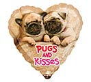 "17""LUV AVANTI PUGS  KISSES"