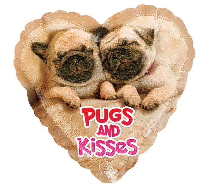 """9""""INFLATED LUV AVANTI PUGS  KISSES"""