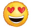 "9""INFLATED EMOTICON LOVE  KISSES"