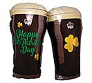 "28""PKG STP ST PATTY'S BEER GLASSES"
