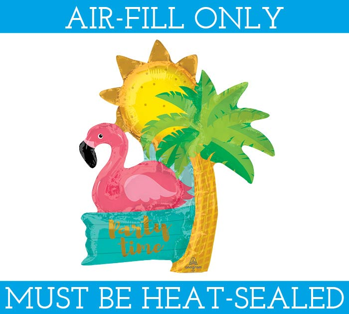 "14""FLAMINGO PARTY TIME BALLOON AIR ONLY"