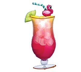 "41""PKG LET'S FLAMINGLE TROPICAL DRINK"
