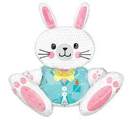 "30""PKG EASTER SITTING BUNNY MULTIBALLOON"