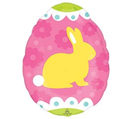 "16"" YELLOW  BLUE BUNNIES JUNIOR SHAPE"