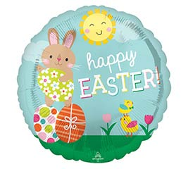 """17"""" HAPPY EASTER BUNNY/CHICK 1 AVAIL"""