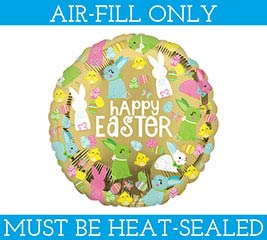 "4""EASTER BALLOON MUST BE FILLED WITH AIR"