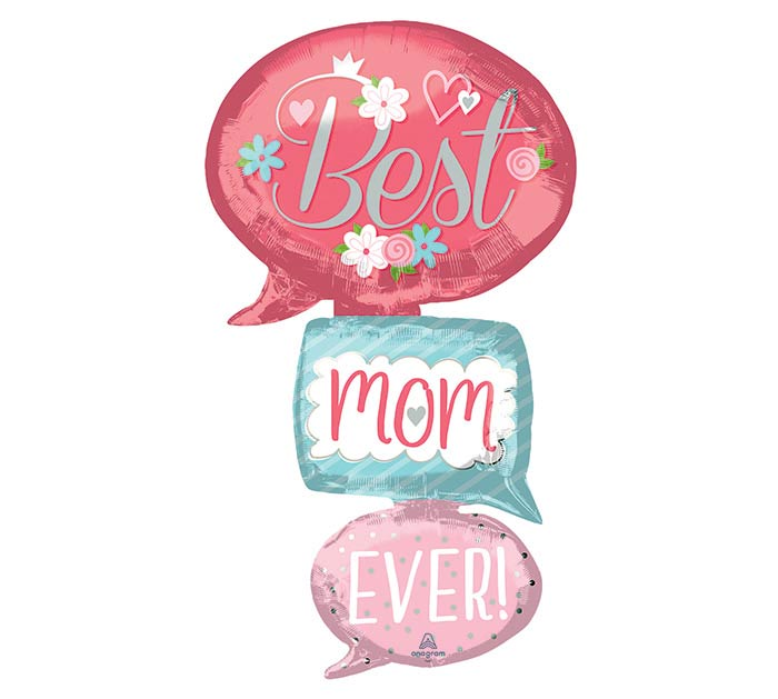 "53""PKG MOM BEST MOM EVER GIANT MULTI-BAL"