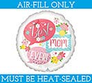 "4""FLAT BEST MOM EVER BUBBLES"