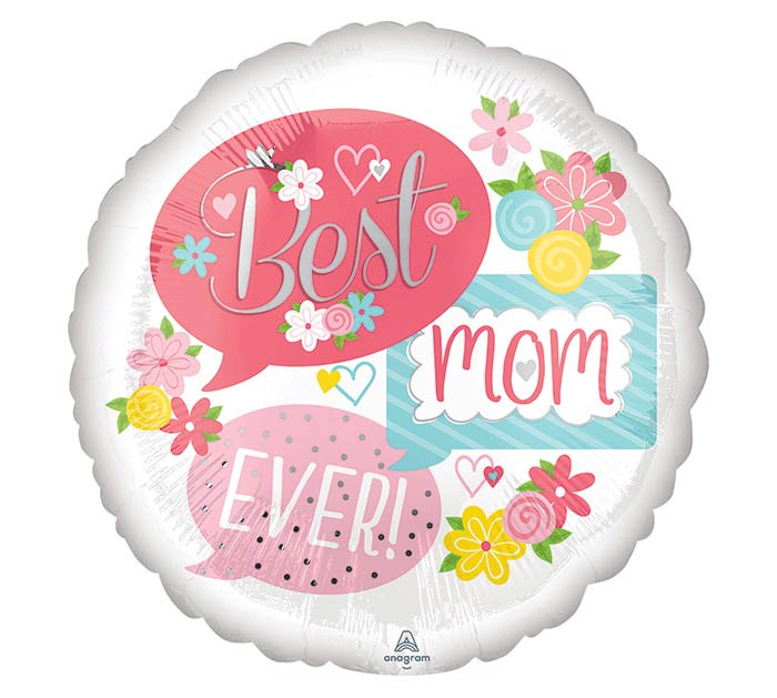 "17""MOM BEST MOM EVER BUBBLES"