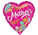 """17""""HMD MOTHER'S DAY PAISLEY HEART"""