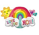 "30""PKG MOM LOVE YOU MOM RAINBOW"