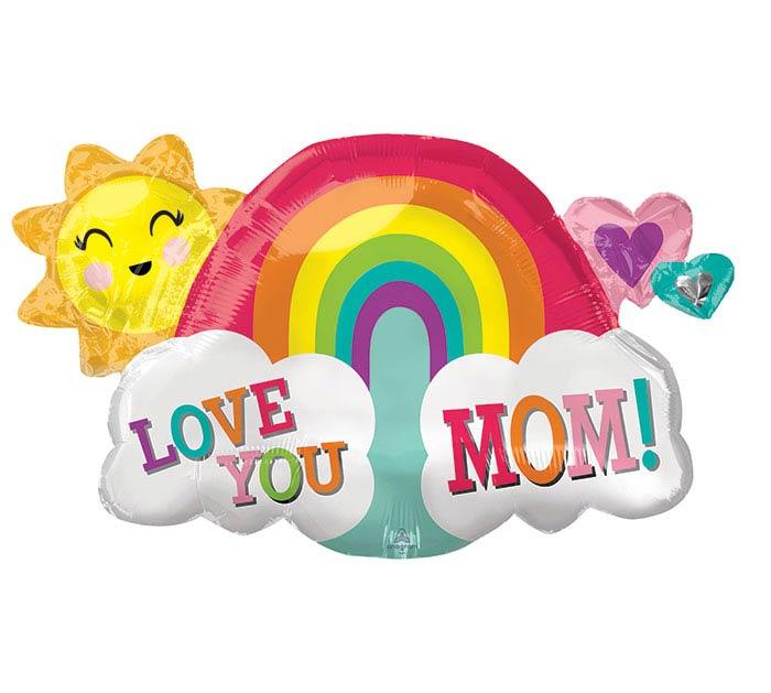 "30""PKG MOM LOVE YOU MOM RAINBOW"