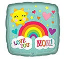 "17""MOM LOVE YOU MOM RAINBOW"
