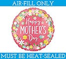"4""FLAT MOTHER'S DAY FLORAL WREATH"