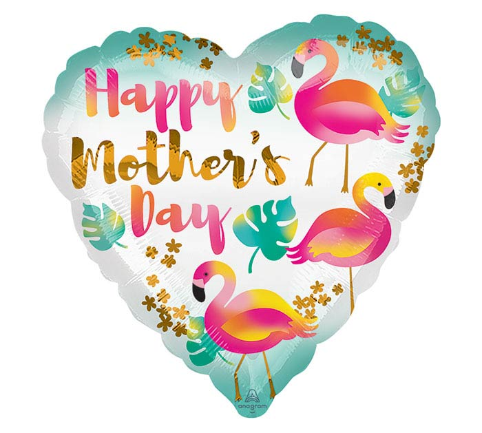 """17""""HMD MOTHER'S DAY FLAMINGOS HEART"""