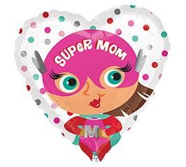"17""MOM SUPER MOM HEART"