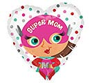 "17""MOM SUPER MOM HEART"