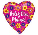 "17""SPA FELIZ DIA MAMA FLOWERS HEART"