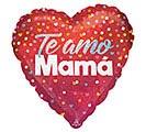 """18""""SPA TE AMO MAMA CONFETTI HEART"""