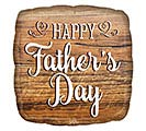 "17""HFD FATHER'S DAY WOOD SIGN SQUARE"