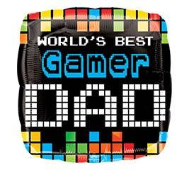 """17""""DAD WORLD'S BEST GAMER DAD"""