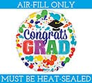 "4"" CONGRATS GRAD MUST FILL WITH AIR ONLY"