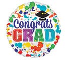 "4""INFLATED GRA CONGRATS GRAD PAINT SPLOT"