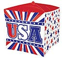 "15""PKG CUBEZ PAT USA STARS  STRIPES"