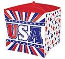 "15""PKG CUBEZ PAT USA STARS  STRIPES"