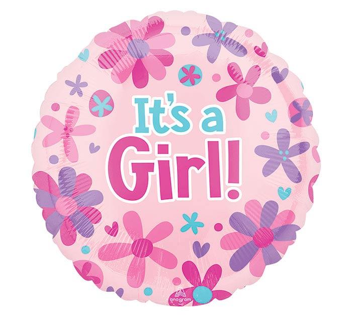 """18""""PKG IT'S A GIRL FLOWERS"""