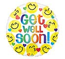 "18""PKG GET WELL EMOTICONS"