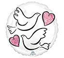 "17""PKG WEDDING DOVES"