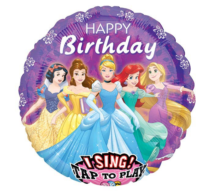 "28""PKG HBD DISNEY PRINCESS SING A TUNE"