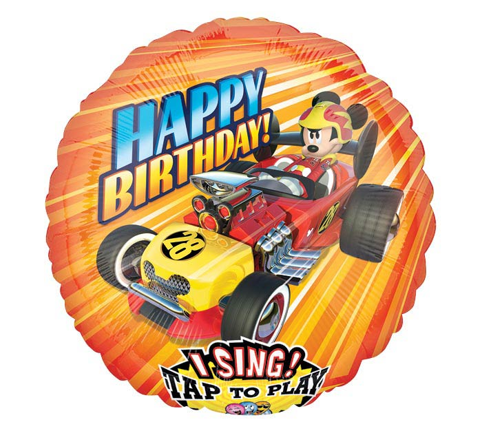 """28""""PKG HBD MICKEY ROADSTER SING A TUNE"""