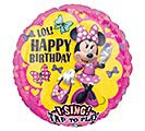 "28""PKG HBD MINNIE BIRTHDAY SING A TUNE"