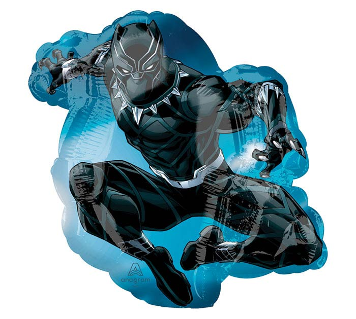 """14""""INFLATED MARVEL BLACK PANTHER MINI SH"""