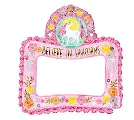 "27""PKG SELFIE FRAME MAGICAL UNICORN"