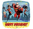 "17""PKG HAPPY BIRTHDAY INCREDIBLES 2"