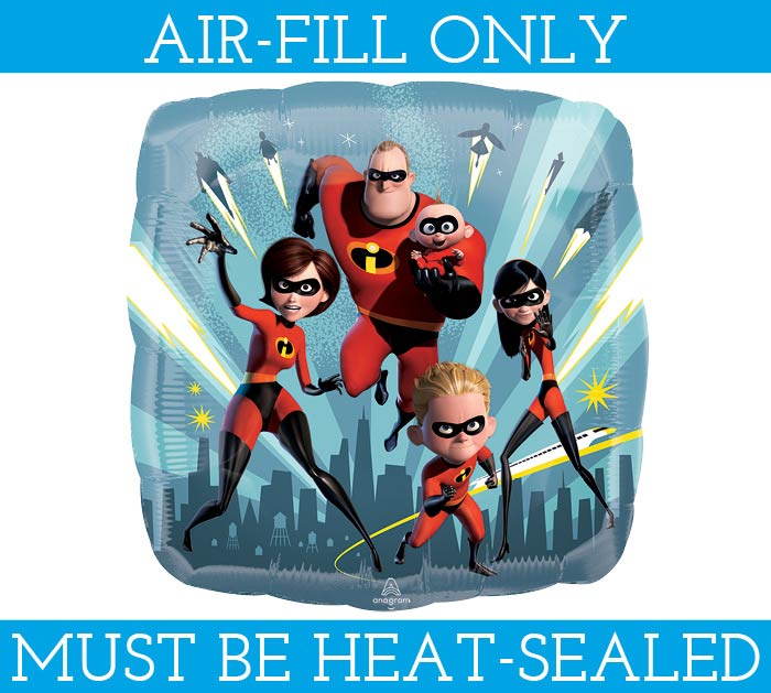 """9""""FLAT INCREDIBLES 2 MUST BE AIR FILLED"""