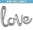 "31""PKG LOVE SILVER SCRIPT PHRASE"