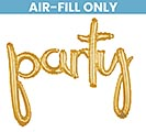 "39""PKG PARTY GOLD SCRIPT PHRASE"