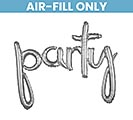 "39""PKG PARTY SILVER SCRIPT PHRASE"
