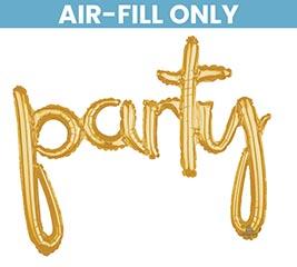 """39""""PKG PARTY GOLD SCRIPT PHRASE"""