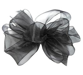 #9 SHEER BLACK RIBBON