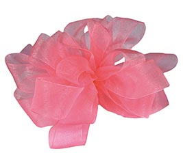#9 SHEER ROSE PINK RIBBON