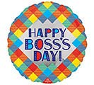 "17"" HAPPY BOSS'S DAY PLAID"