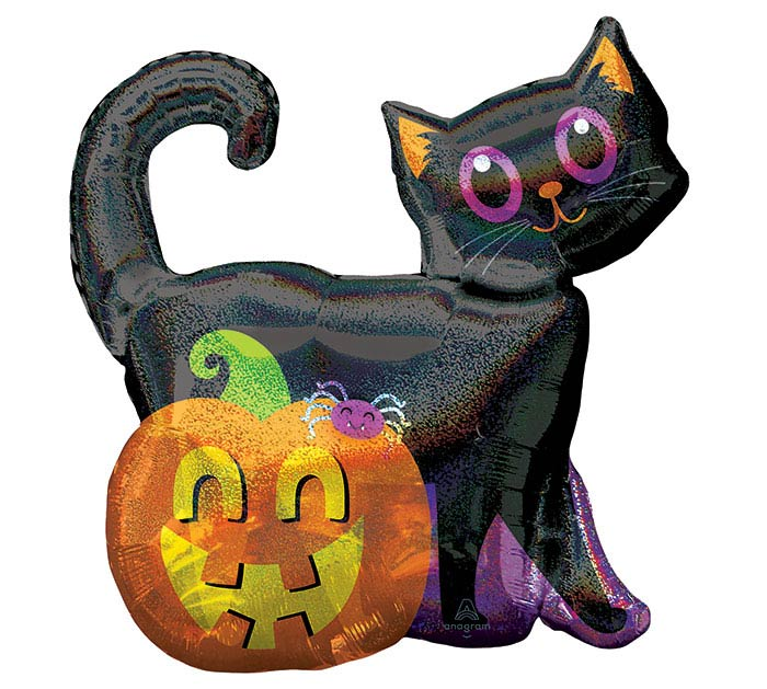 "28""PKG BLACK CAT  PUMPKIN"